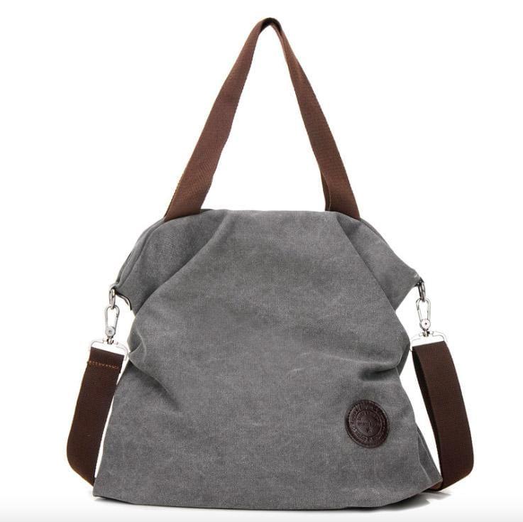 The canvas tote handbag - gray small - Shoulder Bags