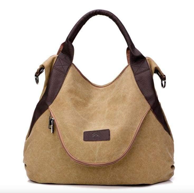 The canvas tote handbag - Khaki - Shoulder Bags
