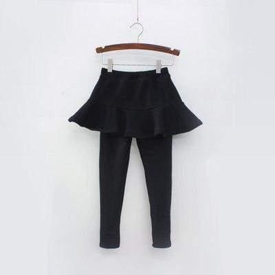Toddler skirted leggings - Black / 3T - Pants