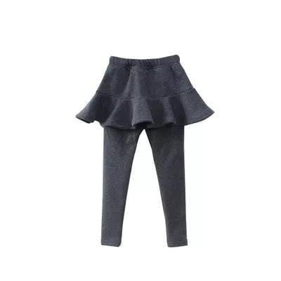 Toddler skirted leggings - Dark Grey / 3T - Pants