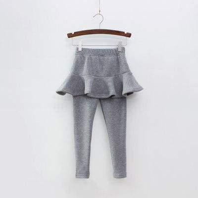 Toddler skirted leggings - Gray / 3T - Pants