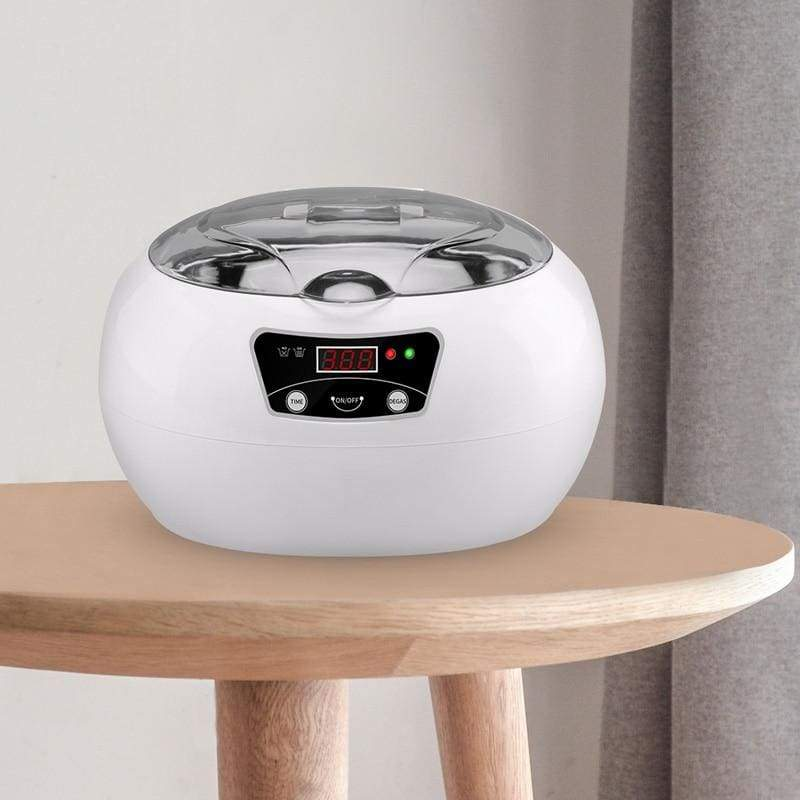 Ultrasonic Jewelry Cleaner - White / US - electronic jewelry cleaner