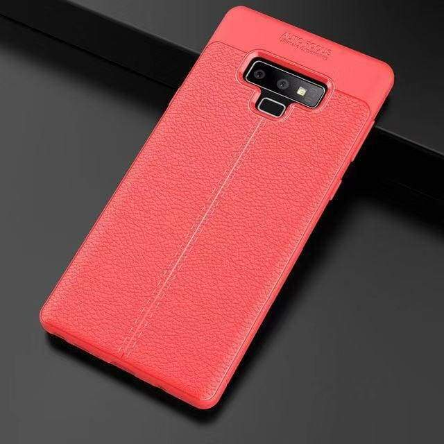 Ultra-Thin Silicone Leather Case For Samsung - Red / S10 / Case & Screen Protector - Fitted Cases