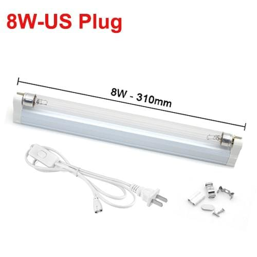 Ultraviolet Lamp Disinfection Sterilizer Tube - 8W With US Plug - UV Lamps1