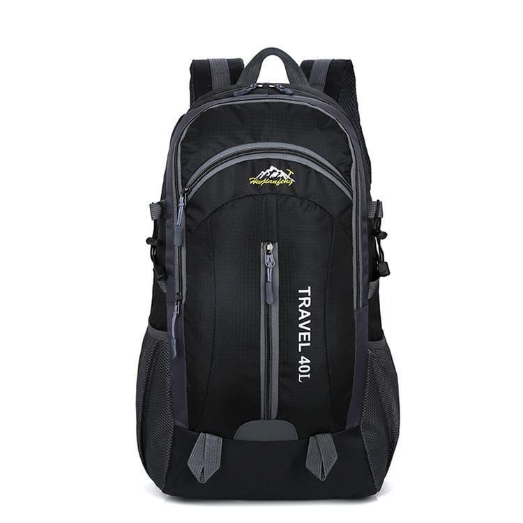 USB Charging Waterproof Backpack - Black - Backpacks