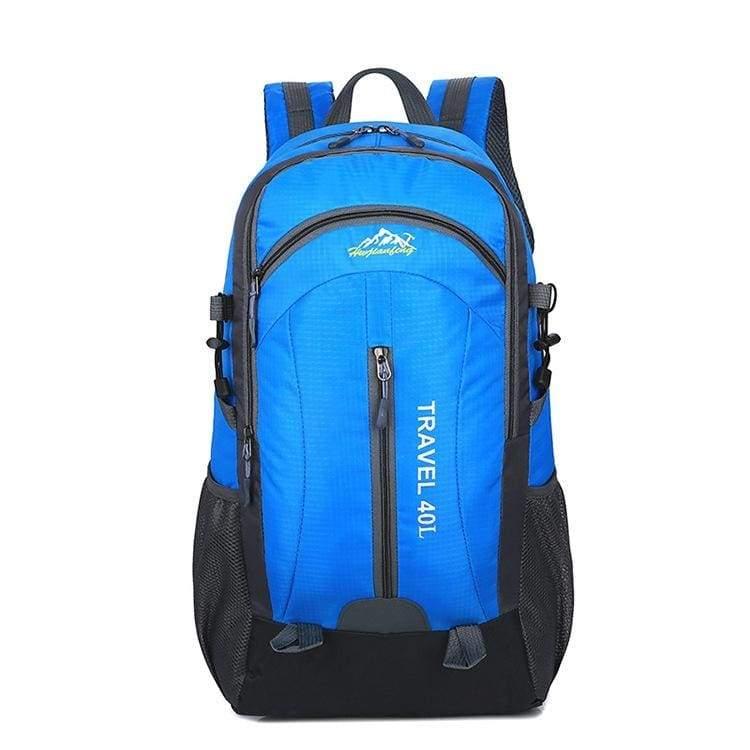 USB Charging Waterproof Backpack - Blue - Backpacks