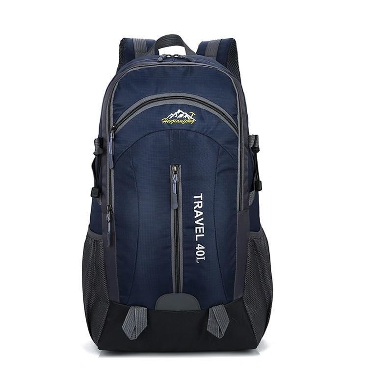 USB Charging Waterproof Backpack - Deep Blue - Backpacks