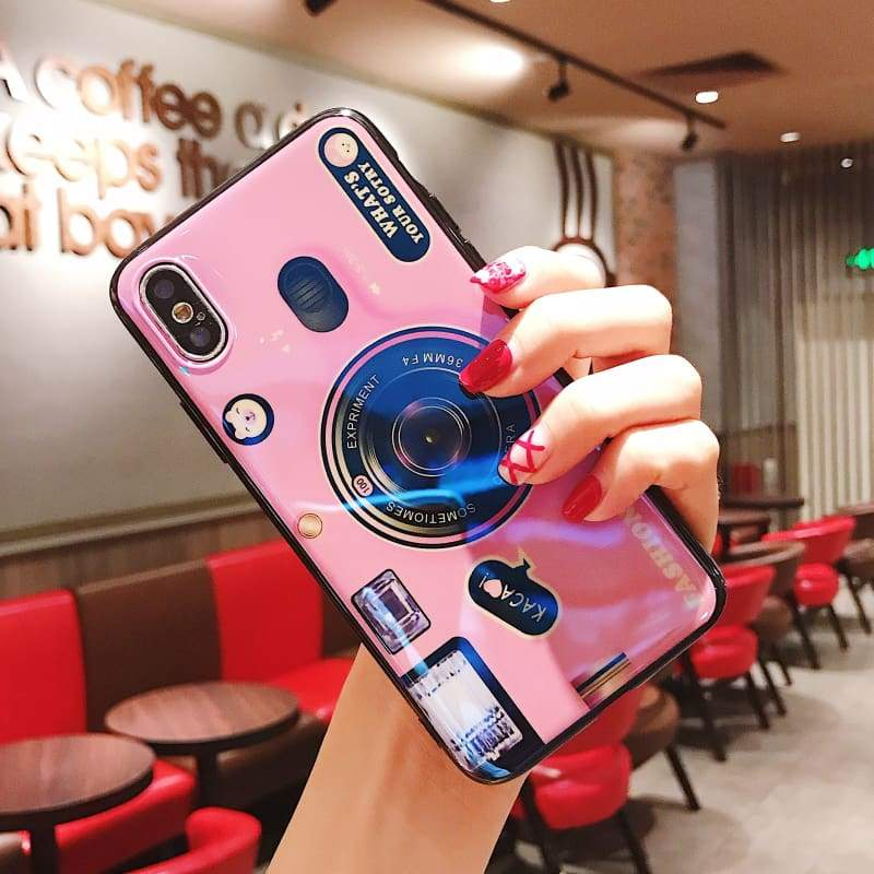 Vintage Camera Phone Case - Pink / For iPhone 7 / Kickstand and Case - Fitted Cases