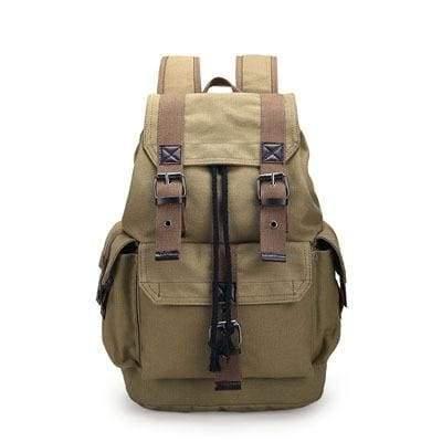 Vintage canvas backpack Just For You - Khaki - Backpacks