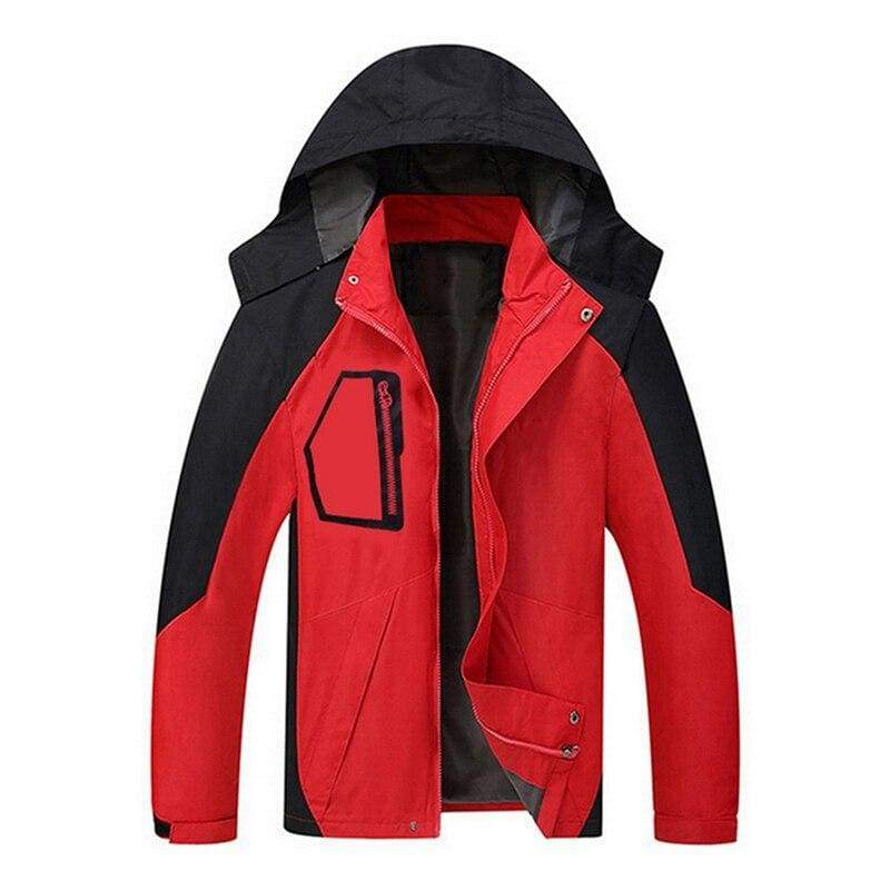 Waterproof Coat Windproof Warm Just For You - 03 red 16 / S - Hiking Jackets