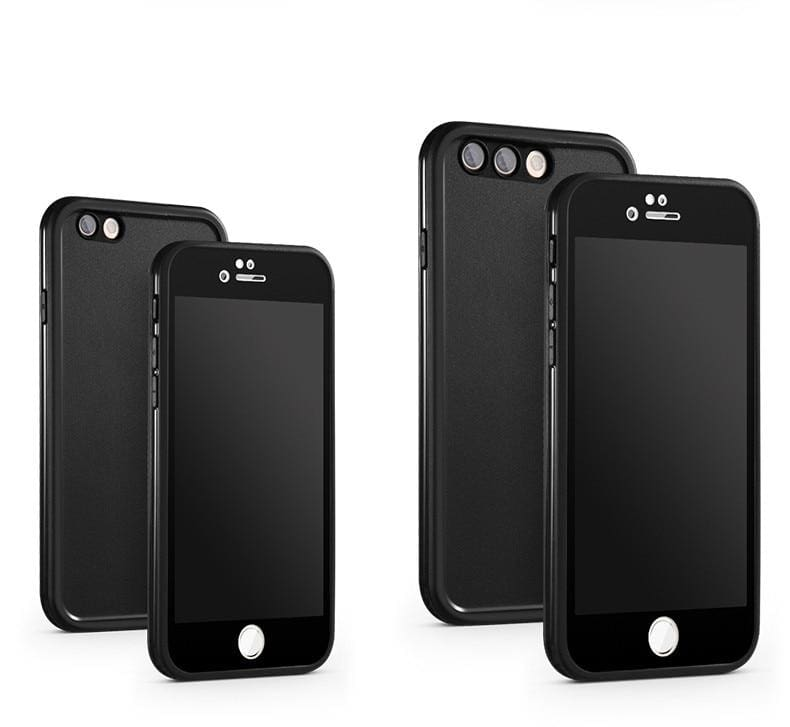 Waterproof Phone Case for iPhone - Black / For iPhone X - Fitted Cases