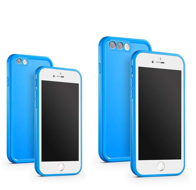 Waterproof Phone Case for iPhone - Blue / For iPhone X - Fitted Cases