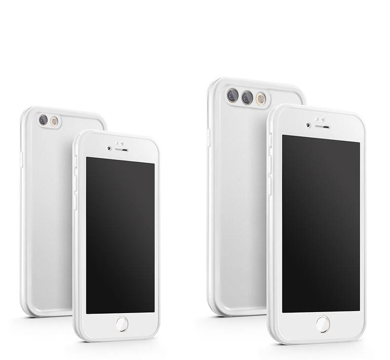 Waterproof Phone Case for iPhone - White / For iPhone X - Fitted Cases