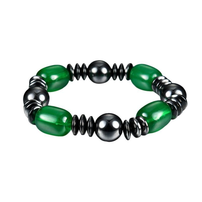 Weight Loss Magnetic Therapy Round Black Stone Bracelet - Design2 - Charm Bracelets