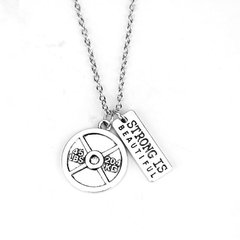 Dumbbell Necklace Pendant - 3 - Pendant Necklaces