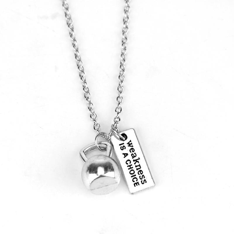 Dumbbell Necklace Pendant - 4 - Pendant Necklaces