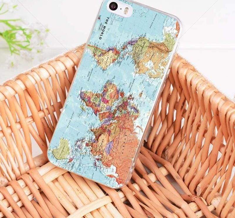 World Map Travel Plans iphone case - 4 / For iPhone 8 - Half-wrapped Case