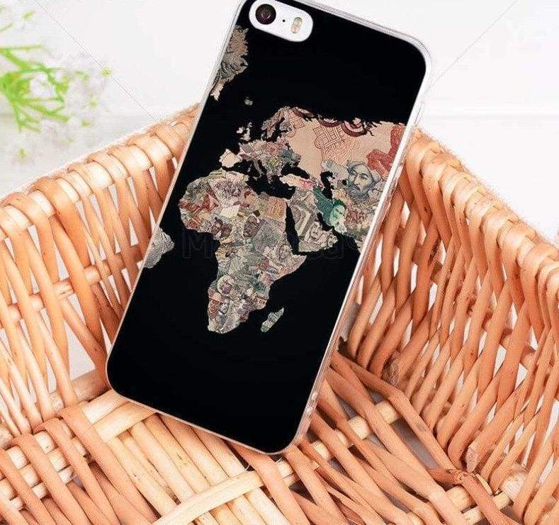 World Map Travel Plans iphone case - 6 / For iPhone 8 - Half-wrapped Case