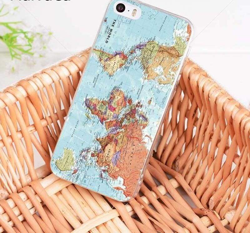 World Map Travel Plans iphone case - Half-wrapped Case
