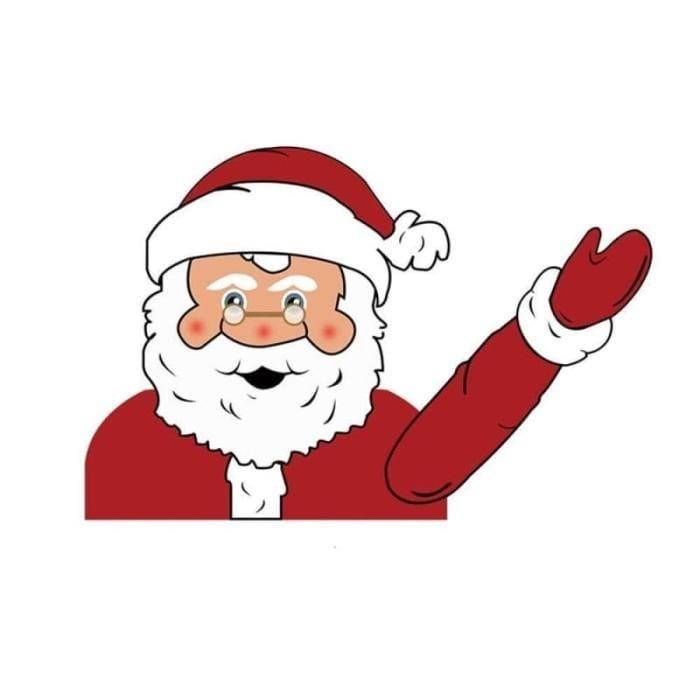 Xmas Santa Claus Car Waving - Black - Christmas Decoration