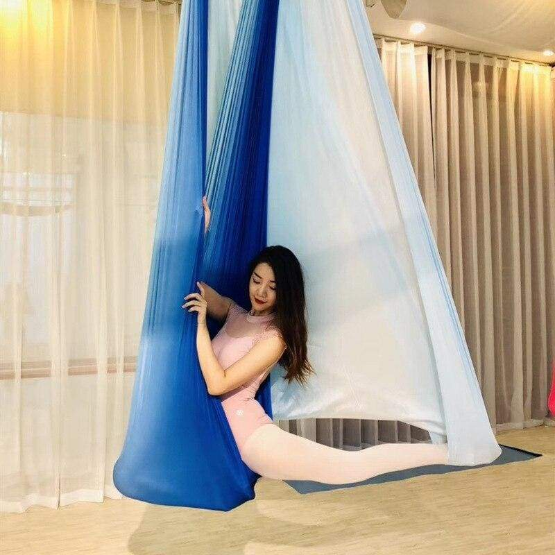 Aerial Anti-gravity Yoga Hammock Just For You - Sky blue - Gym Fitness