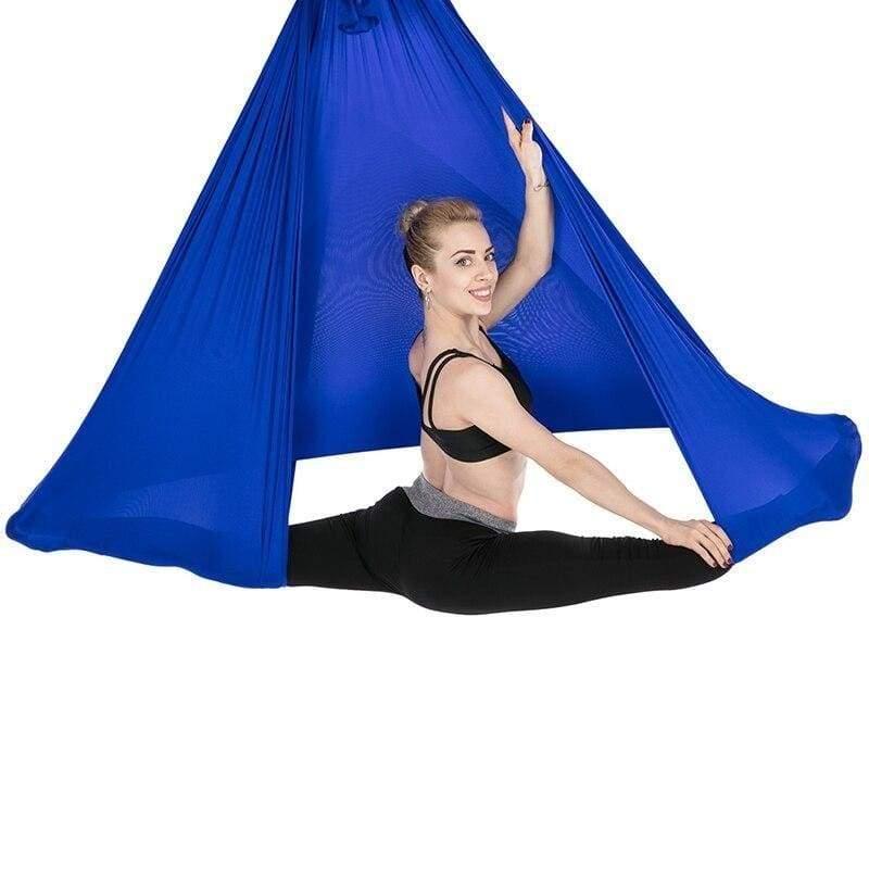 Yoga Hammock Aerial Flying Swing - Deep Blue - Gym Fitness