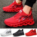 """Running Shoes Men's Flame Printed Sneakers Flying Weave Men's Flame Printed Sneakers Flying Weave Sports Shoes Comfortable Running Shoes Outdoor Men Athletic Shoes""""s Fla"""