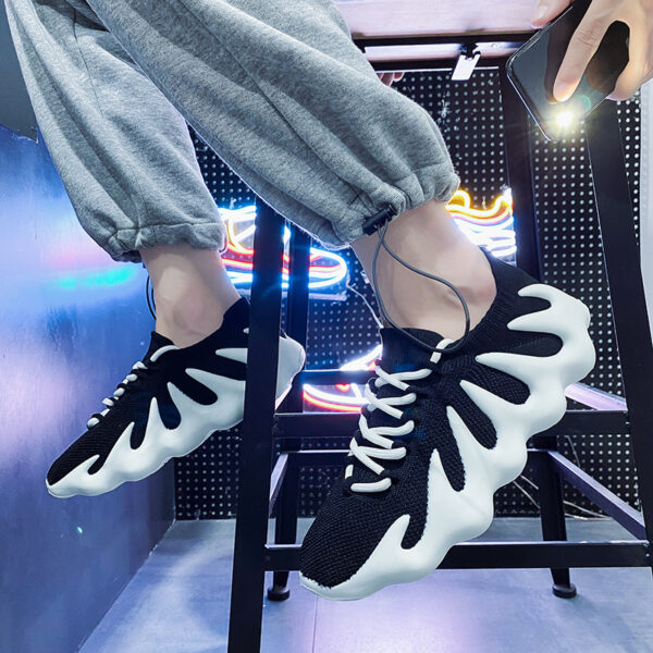 Boost Shoes Breathable Running Sports Clunky Sneaker Male Fashion Men Shoes Causal Coconut Dad Flats Breathable Running Sports Clunky Sneaker Shoes Spring Sneakers Lace-up